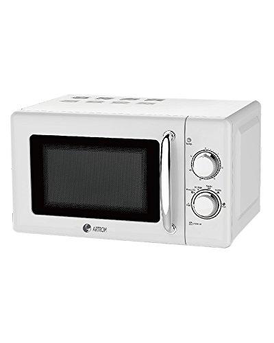 Artrom MM-720WML - Microondas retro, 700 W, color blanco