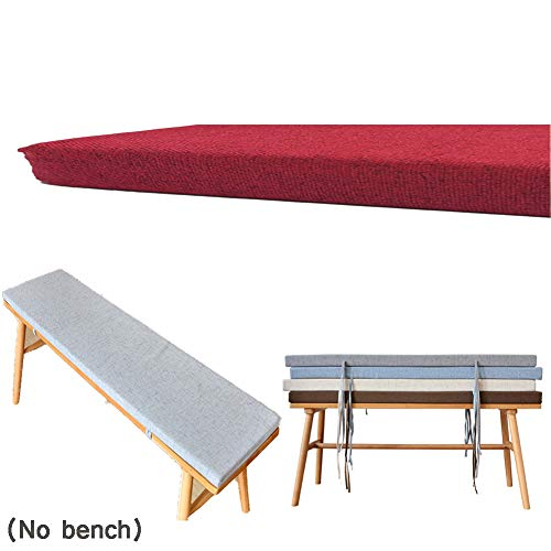 ANQI Kitchen Bench Cushion Pad 5cm Thick for Outdoor Furniture 2-3 Seater Garden Rattan Chair Seat Pad Indoor Dining Mattress Swing Cover 40x40cm red