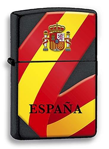 Tiendas LGP - Albainox 33539gr1046 Encendedor de Gasolina, Bandera de España, fotografía 3D