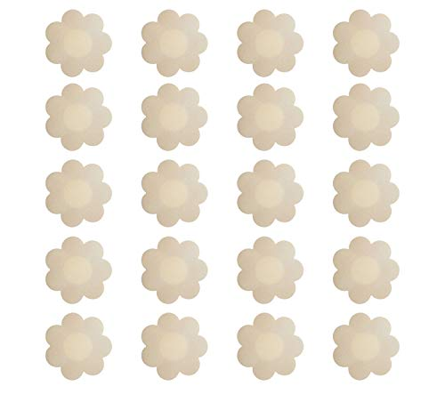 Nipple Breast Covers, Disposable Breast Pasties Adhesive Bra Nippleless Cover (Beige 20 Pairs New Version) …