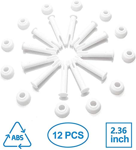 NorCWulT Gemeinsamer Pins & Dichtungen (12 Stück) für Intex Runde Metallrahmen Pools Ersatzteile, Intexpool Ersatz Ersatzteil, Intex 10'-12'
