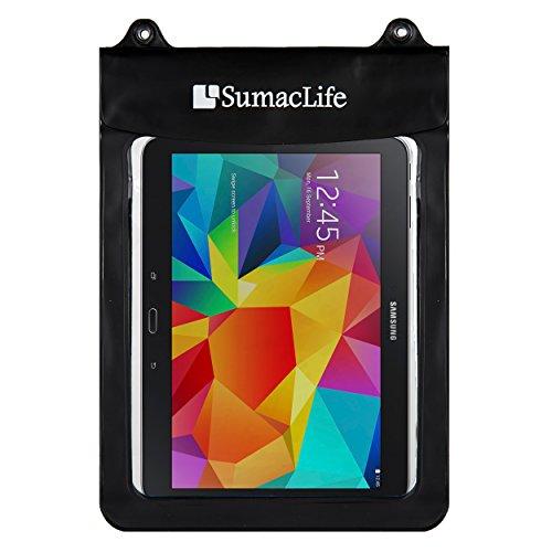wasserdichte Tablet-Tasche (Rosa) mit Umhängeband – kompatibel mit Apple iPad Mini 5/4/3, Samsung Galaxy Tab A/4/3/S2, Lenovo Tab 4 Plus, perfekt für Schwimmbad, Strand, Bad, Reisen schwarz 12.9-inch