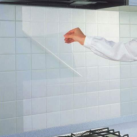 Ecológico Cocina extraíble Resistente a la grasa Resistente a altas temperaturas Pegatinas de azulejos transparentes Pegatinas de pared impermeables Gabinetes de campana extractora Autoadhesivos