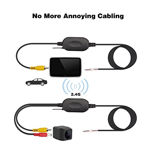 POMILE Auto HD 2.4G Modul Adapter Wireless Transmitter/Receiver 12V für Auto KFZ Rückfahrkamera Sender Empfänger