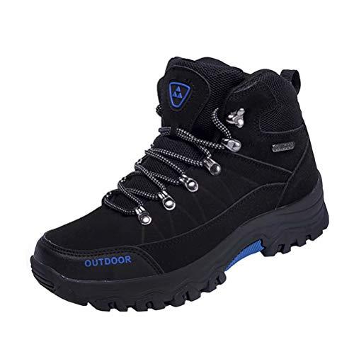 Zapatillas de Senderismo Hombre Al Aire Libre Antideslizantes Zapatillas de Trekking Transpirables Botas de Montaña Negro 44