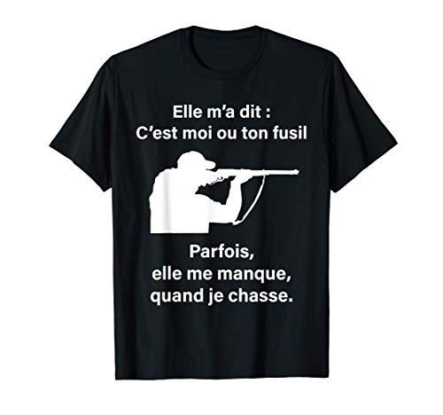 Humour Chasse Cadeau homme femme enfant Chasseur Tee T-Shirt