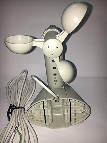 Almot 934 Détecteur de vent et de soleilavec loupe–Anémomètre pour contrôle météorologique complet pour centrale de stores occultants