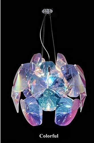 YIBANG-DIANZI Candelabros Iluminación de araña Colgante Redondo Loft Cocina Iluminación de Sala de Estar para casa (Body Color : Colorful, Size : Diameter 60cm)