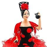 Folk Artesanía Muñeca 20 cm andaluza o Flamenca Vestido con Cola . Similar Marin Dolls. Fabricado...