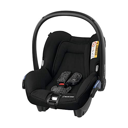 Maxi-Cosi Citi Babyschale, federleichter Baby-Autositz Gruppe 0+ (0-13 kg), nutzbar ab der Geburt bis ca. 12 Monate, Black Grid (schwarz)