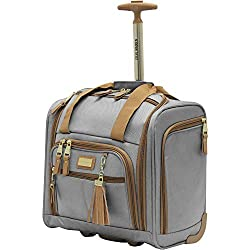 Steve Madden Luggage Wheeled Suitcase Under Seat Bag (Harlo Gray)
