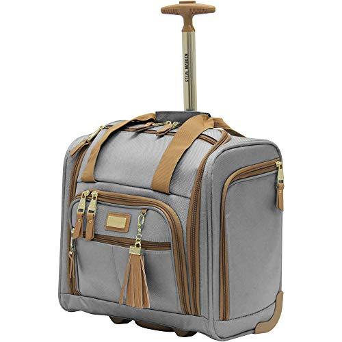 Steve Madden Luggage Wheeled Suitcase Under Seat Bag (Harlo Gray)
