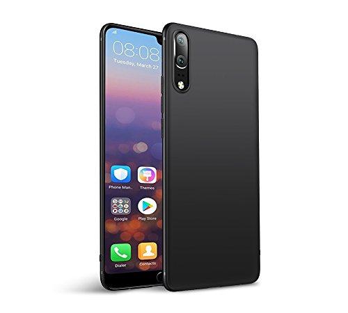 Olliwon Cover Huawei P20, Ultra Sottile Anti Graffio Case Anti Impronte Protettiva e Leggera Cover per Huawei P20, Huawei P20 Custodia - Nero