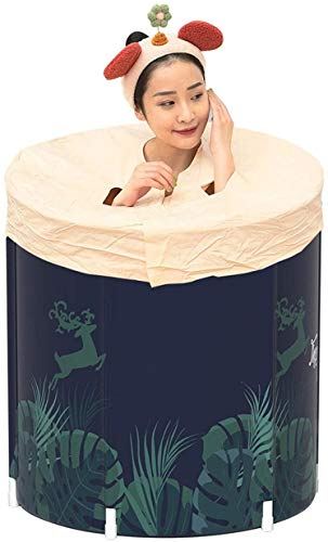 YQDSY Bañera Portátil Hogar Adulto Barril Barril Bañera Plegable Barril Portátil Multifuncional Bañera Plegable Fácil de Instalar Easy Storage SPA de plástico/Picture Color/Los 70X70CM