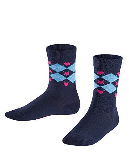FALKE Kinder Socken Hearts Argyle, 1 Paar, Blau (Marine 6120), 35-38