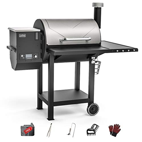 ASMOKE Wood Pellet Grill, 700 sq Large Cooking Area, 8 in 1 Pellet Smoker Grill, Outdoor Pellet Grill - Includes Waterproof Cover, Meat Probe and More