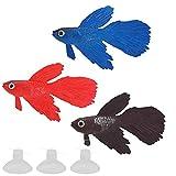 bizofft Peces Falsos Coloridos, Pescados Falsos de los Colores Brillantes para la decoración para la pecera