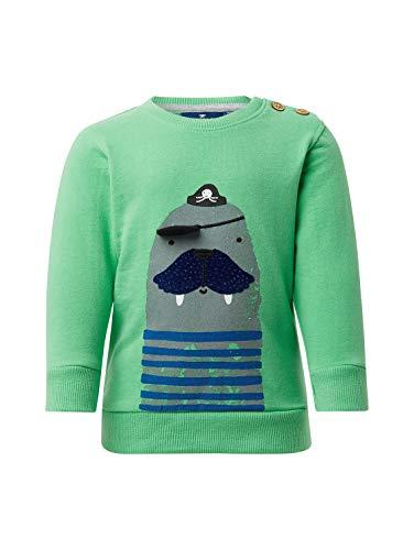 TOM TAILOR Kids Baby-Jungen Placed Print Sweatshirt, Grün (Spring Bouquet 5119), (Herstellergröße: 74)