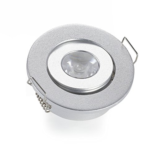 (10 UNIDADES) Mini 3 W LED empotrada techo abajo luz lámparas Downlights LED para la sala de estar del dormitorio 6000 K