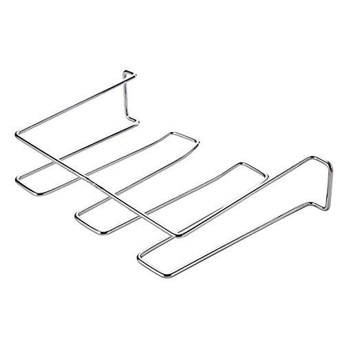 Planken Bekerhouder, Iron Onder plank mand Cup Creative Glass drain kader glijdt gemakkelijk Space saver Metal ontwerp for hoge kast kast White coated -A 7x7x2inch (19x19x5.7cm), Maat: 7x7x2inch (19x1