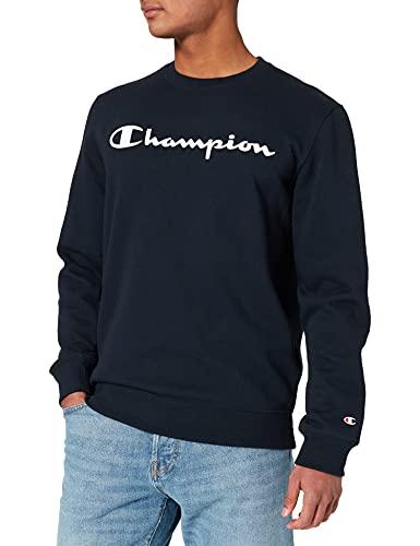 Champion Legacy Classic Logo Felpa, Blu Marino, XXL Uomo