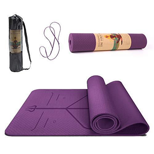SUNFEID Thick Yoga Mat For Women Non Slip Yoga Mat Non Slip Eco Friendly Yoga Mat with Alignment