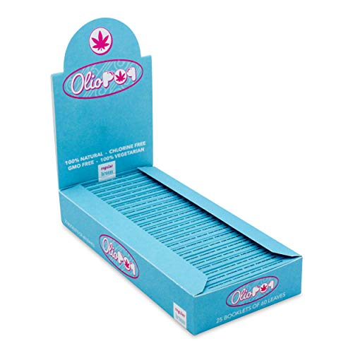 OLIOPOP Papel de Liar Fumar Pequeño Marrón Natural (60 hojas 25 libritos)