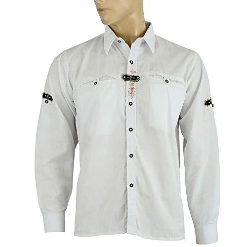 Attono, camicia da uomo per costume tradizionale bavarese, camicia da Oktoberfest, taglia XXL