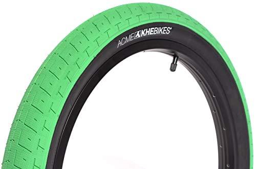 KHE Acme - Pneumatico per BMX Street Park 20' x 2,40', colore: Verde/Nero