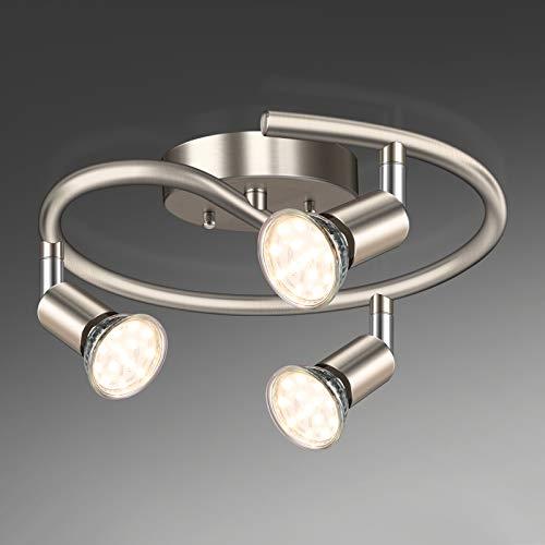 Unicozin 3-Light Spiral LED Track Lighting Kit