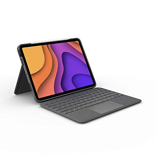 Logitech Folio Touch iPad Keyboard Case with Trackpad and Smart Connector for iPad Air (4th Generation) – Graphite