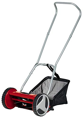 Einhell Manual Lawn Mower GC-HM 300 (for Lawns Up to 150 m², Ball-Bearing Mounted Mower Spindle with 5 High-Grade Steel Blades, 4-Position Cutting Height Adjustment 13-37 mm)