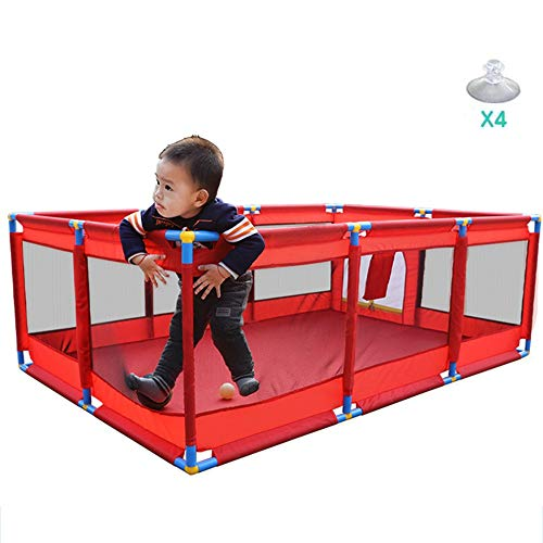 LLAAYY Bed Rails Ball Pit Tent,Portable Baby Playpen Play Space for Children Safety Play Center Yard Home Indoor Outdoor Best Toy to Release Parents for Kids (Color : A, Size : Suction Cup)