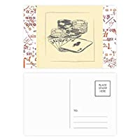 ブラックチップポーカーイラストパターン 公式ポストカードセットサンクスカード郵送側20個