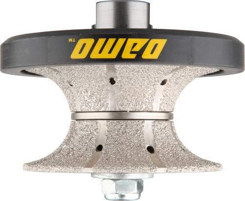 DAMO V40 1-1/2 inch Full Bullnose Medium Diamond Hand Profiler Router Bit Profile Wheel with 5/8-11 Thread for Granite Concrete Marble Countertop Edge