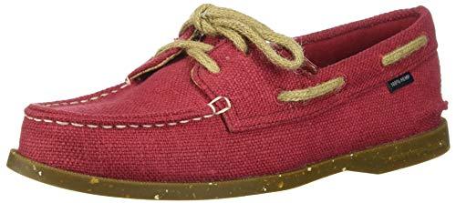 Sperry Zapato de barco A/O de 2 ojos para mujer, Cáñamo rojo, 44.5 EU