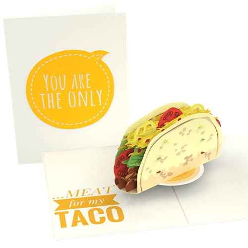 PopLife Naughty Taco 3D Pop Up Card - Funny Gift for Husband or Boyfriend - Sexy Valentine's Day Card, Inappropriate Birthday Card for Him, Father's Day card from Wife, Anniversary Surprise