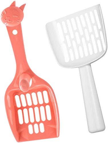 Haip Cat Litter Scoop in 2-Piece Best Litter Cleaning Tool - Cat Poop Scooper | Plastic Kitten Cat Litter Tray Scoop Sifter Shovel Pet Cleaning Tool