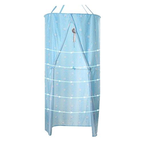 Duschvorhang runder Polyester Hängender Wärmedämmung Verdickter doppelter Reißverschluss D80 * L200cm (31.4 * 78.7inch) , 2 , small