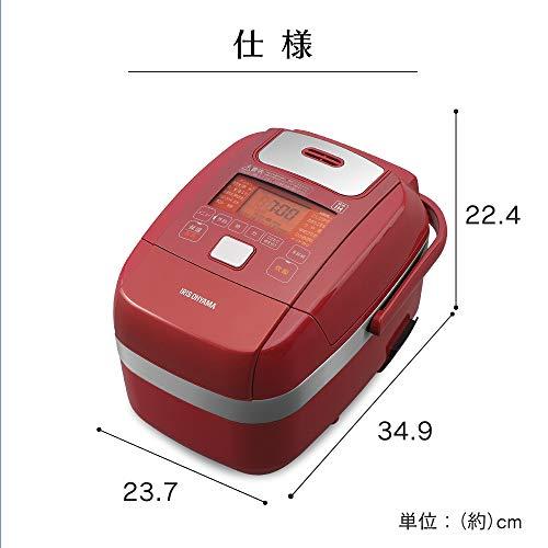 アイリスオーヤマ 圧力IH炊飯器 3合 レッド 圧力IH式 炊飯器 銘柄炊き分け機能 極厚火釜 玄米 赤 デザイン RC-PH30-R