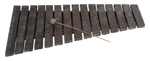 Yuchengstone Klangspiel Klangstein Litophon Xylophon aus dem Naturstein Phonolith aufwendig verziert