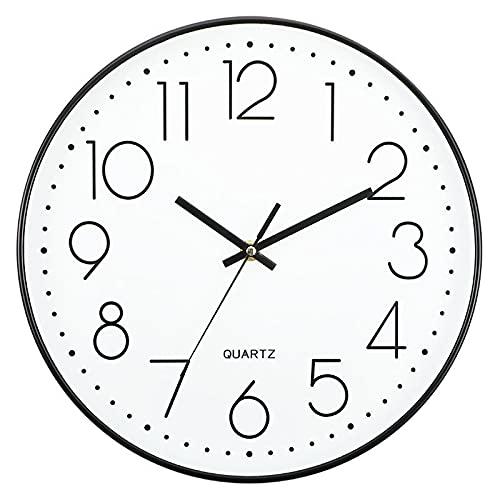 El Reloj Colgante Es Simple En El Norte De Europa Sala De Estar Creativo Digital Reloj De Cuarzo Decoración del Dormitorio De 12 Pulgadas...