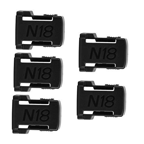 Soporte de Montaje de batería, Soporte de Almacenamiento de Montaje de batería, 5 Piezas Inicio para mesas M18 Batería de Pared de 18 V(Black)