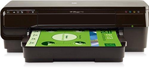 HP Officejet 7110 A3 - Impresora de tinta (4800 x 1200 dpi, USB, WiFi, Ethernet, ePrint, Airprint, Cloud print), Negro
