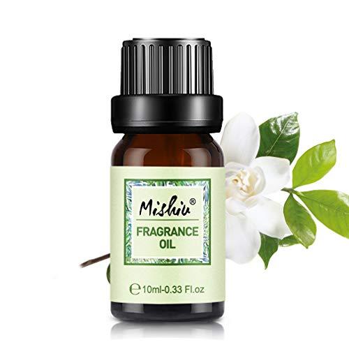 Mishiu Aceites de Fragancia, Aceites Esenciales para Humidificador, Aromaterapia para Hogar, Oficina 10ml - Gardenia