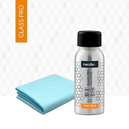 Hendlex Glass Pro Car Windshield Water Repellent  | Long Lasting Invisible Nano Treatment Hydrophobic Ceramic Coating for Glass Window Rain Protection Auto Sealant 1.69 oz