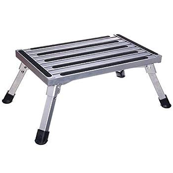 Plate-forme de travail, marches de plate-forme pliante en aluminium, échelle de banc portable Step Up RV, conception antidérapante, échelle portable pour remorque / véhicule