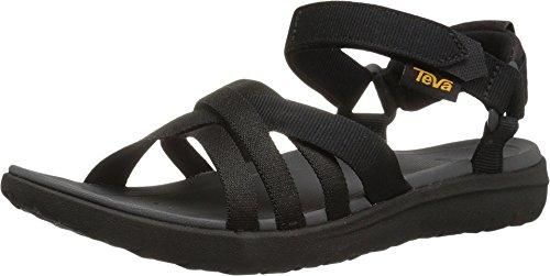 Teva Women's W Sanborn Sandal, Black, 5 M US