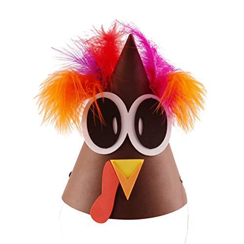 Amosfun Kinder Türkei Hut DIY handgemachte Handwerk Thanksgiving Dekoration