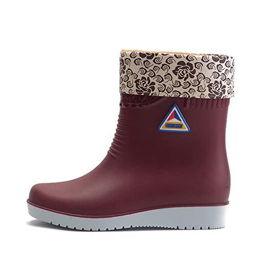 Binggong Regenstiefel Damen Kurzschaft Gummistiefel Damen Halbhoch Wasserdicht Boots Outdoor Gartenschuhe Anti-Rutsch Regenstiefelette Regenschuhe Kurzstiefel Wasserschuhe